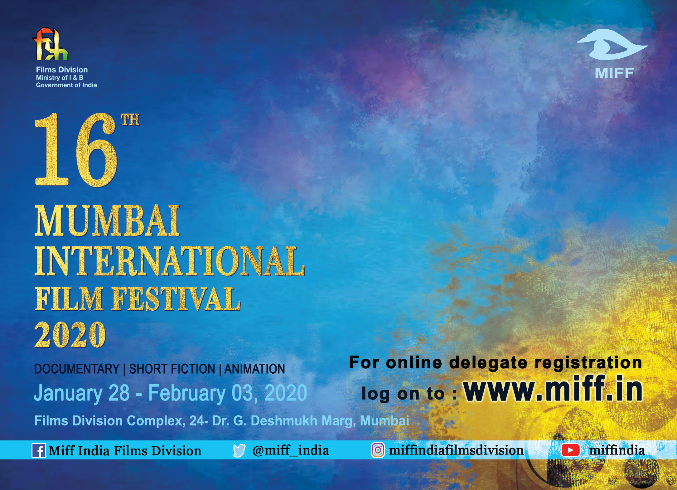 Online Delegate Registration begins for MIFF-2020